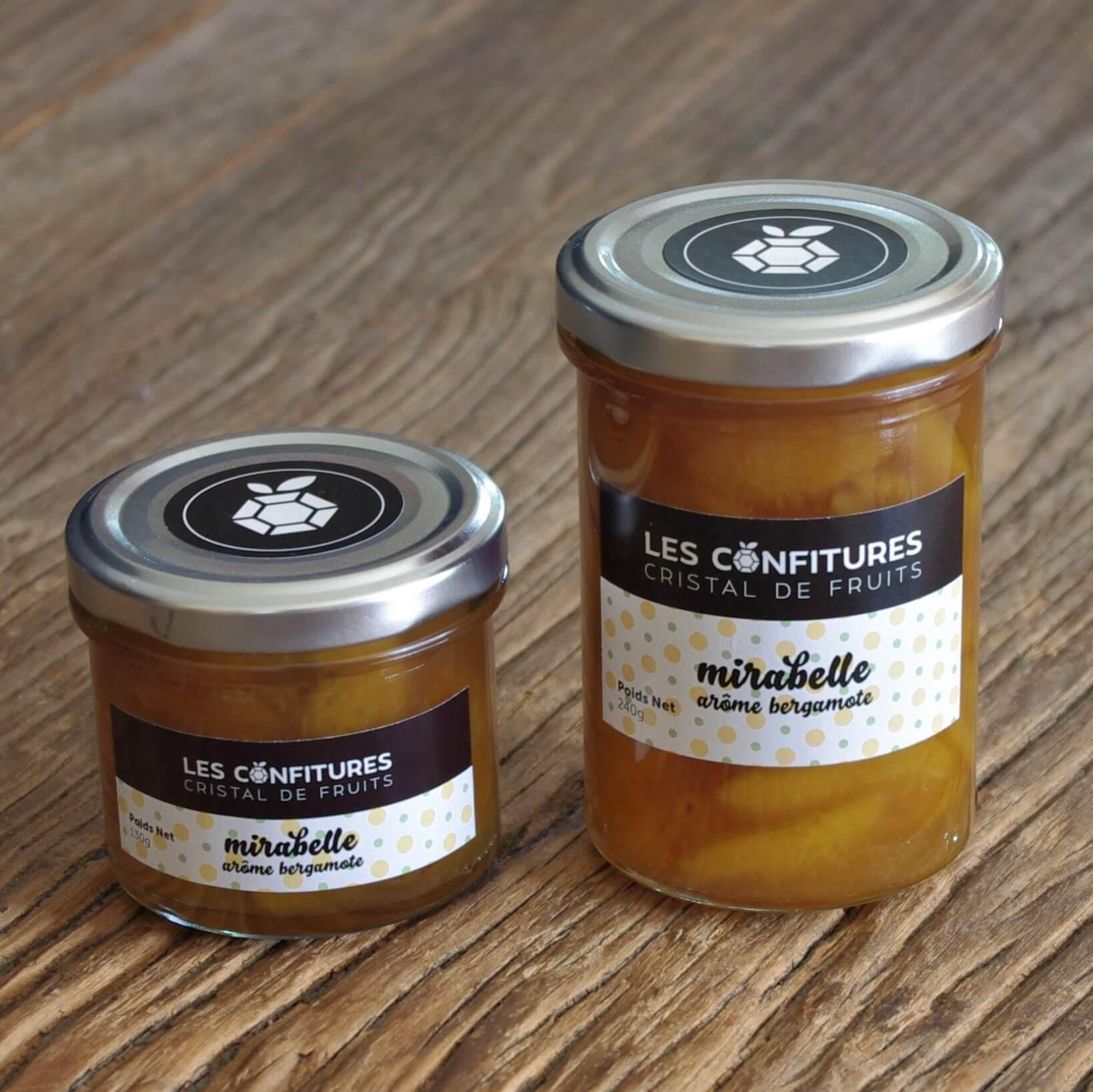 Confiture Mirabelle arôme bergamote