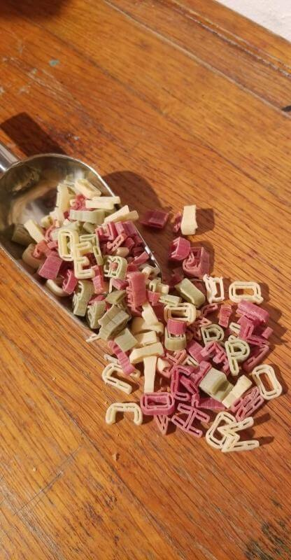 Alphabets 3 couleurs Bio. Les 250g