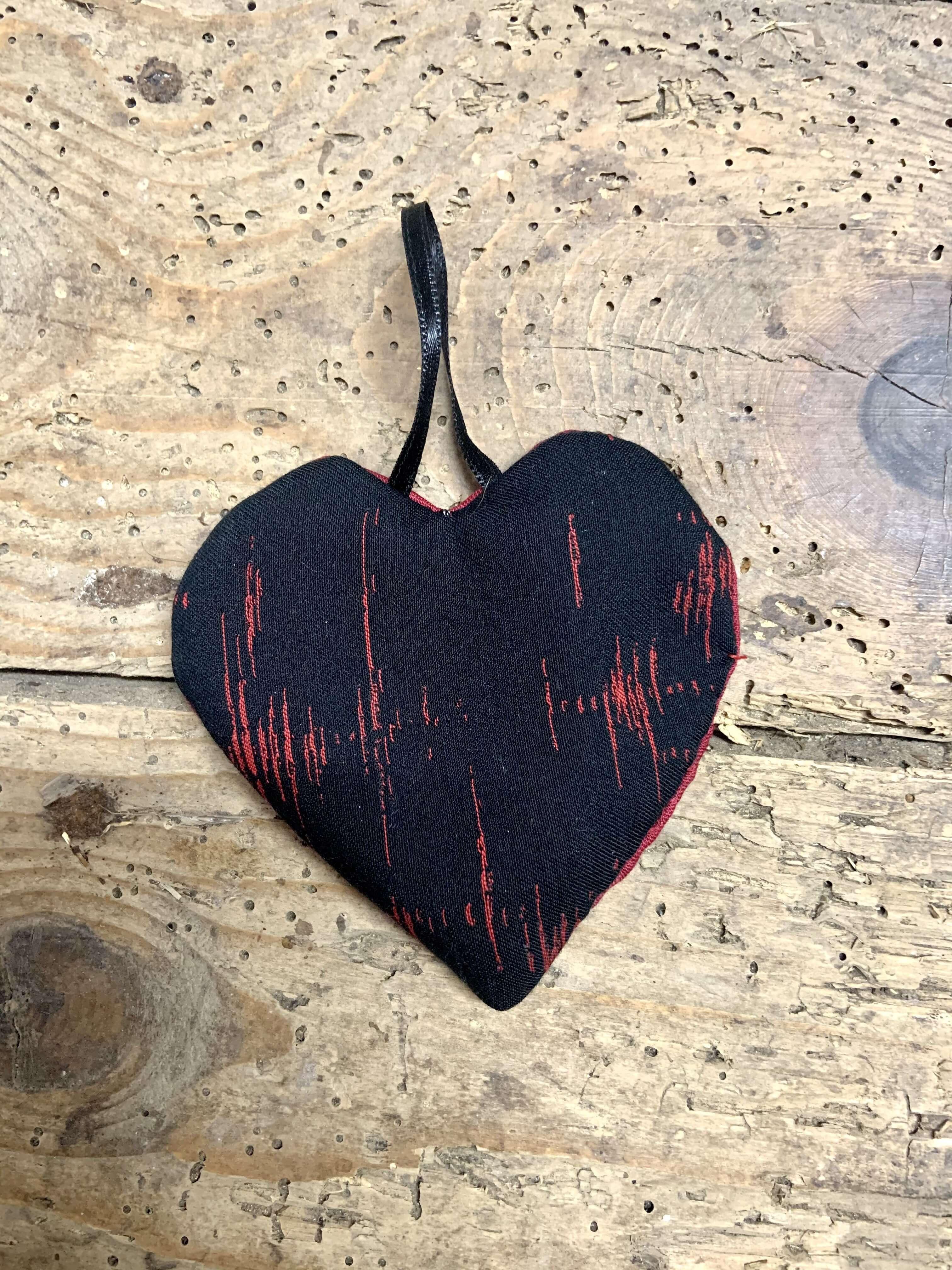 Petit Coeur noir & rouge