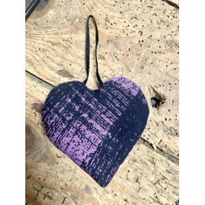 Petit Coeur violet & noir