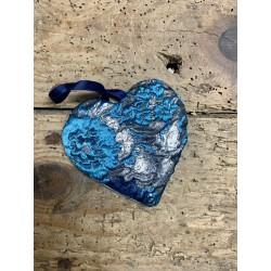 Coeur bleu & argenté