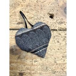 Coeur noir & gris