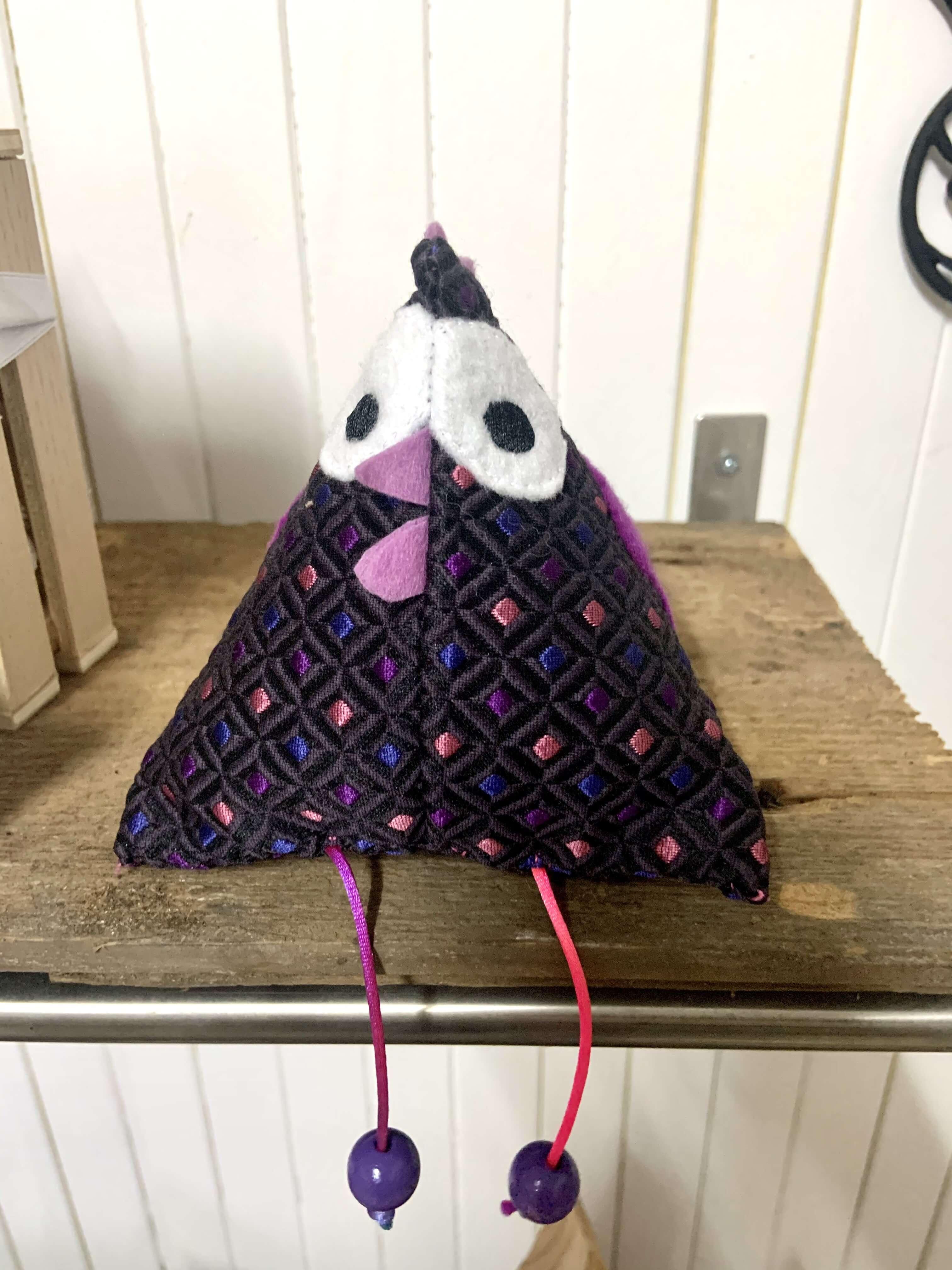Poule Déco violette