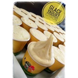 Glace yaourt aux Citrons Bio de Sicile avec ses zestes de citron. 140ml et 500ml