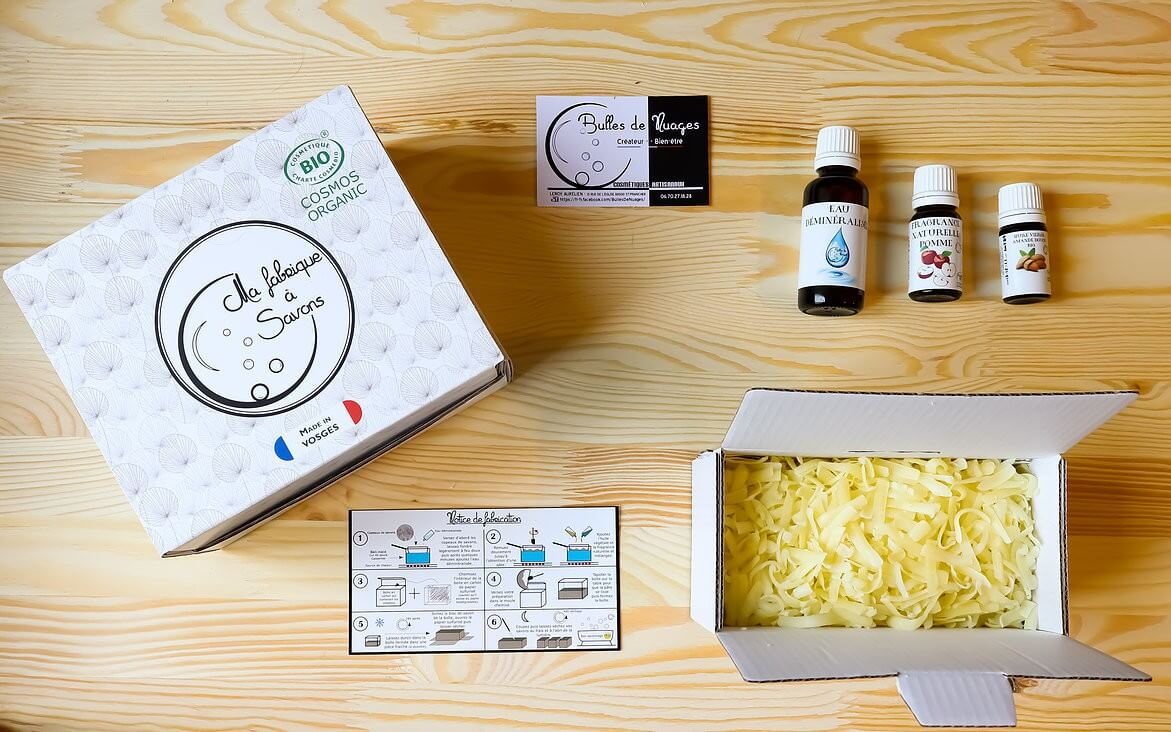 Coffret Bio savon de brebis + Huile pour le corps