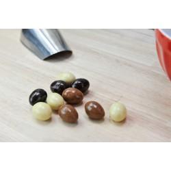 Mélange Chocofeuilleté Noir-Lait-Blanc. Les 50g