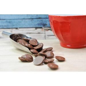 Pistoles Chocolat Lait Caramel 35%. Les 100g