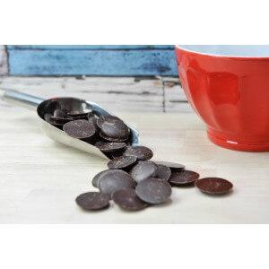 Pistoles Chocolat Noir 67%. Les 100g