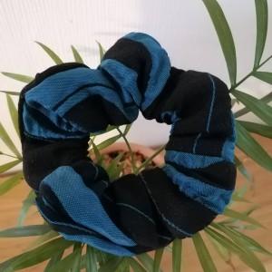 Chouchou Noir et bleu